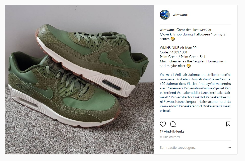 Unboxing unpacking WMNS NIKE Air Max 90 Palm Green Palm Green Sail Code: 443817 301